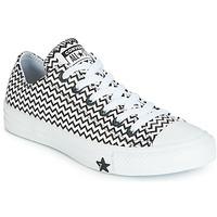 Schoenen Dames Lage sneakers Converse CHUCK TAYLOR ALL STAR VLTG LEATHER OX Wit / Zwart