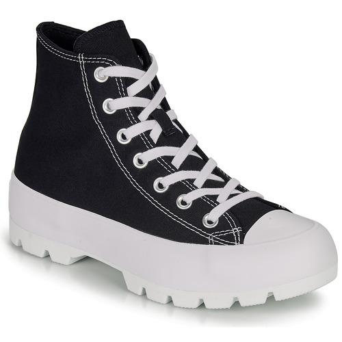 Schoenen Dames Hoge sneakers Converse CHUCK TAYLOR ALL STAR LUGGED HI Zwart