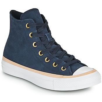 Schoenen Dames Hoge sneakers Converse CHUCK TAYLOR ALL STAR VACHETTA LEATHER HI Marine