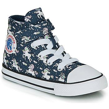 Schoenen Meisjes Hoge sneakers Converse CHUCK TAYLOR ALL STAR 1V UNICONS HI Blauw