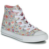 Schoenen Meisjes Hoge sneakers Converse CHUCK TAYLOR ALL STAR LLAMA HI Grijs / Multicolour