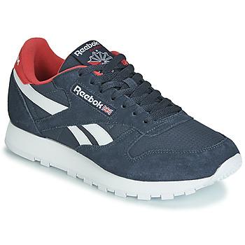 Schoenen Lage sneakers Reebok Classic CL LEATHER MU Marine / Rood