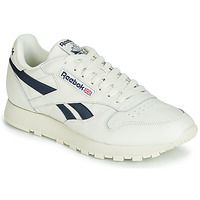 Schoenen Lage sneakers Reebok Classic CL LEATHER MU Wit / Zwart