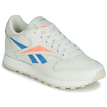 Schoenen Dames Lage sneakers Reebok Classic CL LTHR Beige / Blauw / Orange