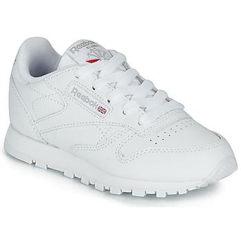 Schoenen Kinderen Lage sneakers Reebok Classic CLASSIC LEATHER C Wit
