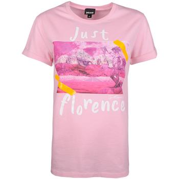 Textiel Dames T-shirts korte mouwen Roberto Cavalli  Roze