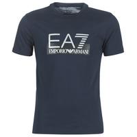 Textiel Heren T-shirts korte mouwen Emporio Armani EA7 GPT81-PJM9Z-1554 Marine