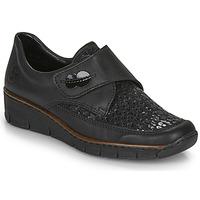 Schoenen Dames Derby Rieker 537C0-02 Zwart