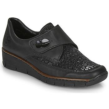 Schoenen Dames Lage sneakers Rieker 537C0-02 Zwart
