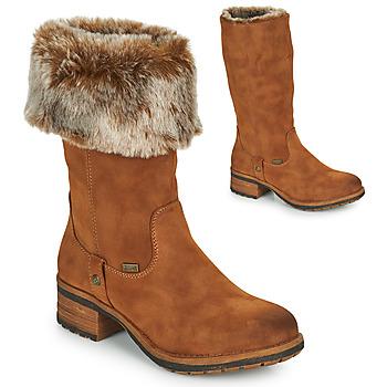Schoenen Dames Hoge laarzen Rieker 96854-26  camel