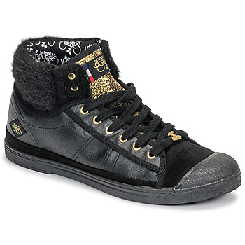 Schoenen Dames Hoge sneakers Le Temps des Cerises BASIC 03 Zwart