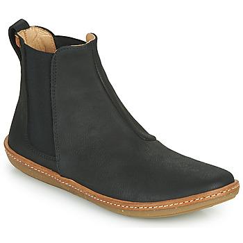 Schoenen Dames Laarzen El Naturalista CORAL Zwart