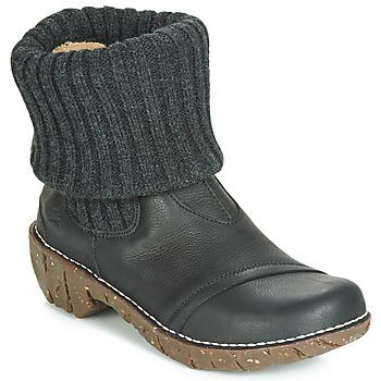 Schoenen Dames Laarzen El Naturalista YGGDRASIL Zwart