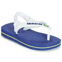 Schoenen Kinderen Sandalen / Open schoenen Havaianas BABY BRASIL LOGO Marine
