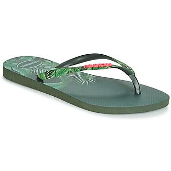 Schoenen Dames Slippers Havaianas SLIM SENSATION Groen
