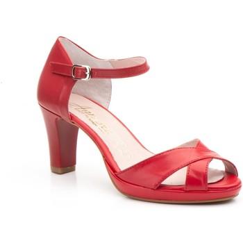 Schoenen Dames Sandalen / Open schoenen Annora Zapatos Zapatos de piel de mujer con tacón by Annora Rouge