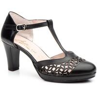 Schoenen Dames Sandalen / Open schoenen Annora Zapatos Zapatos de piel de mujer con tacón by Annora Noir