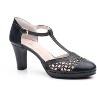 Schoenen Dames Sandalen / Open schoenen Annora Zapatos Zapatos de piel de mujer con tacón by Annora Bleu