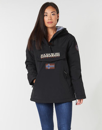 Textiel Dames Parka jassen Napapijri RAINFOREST POCKET Zwart