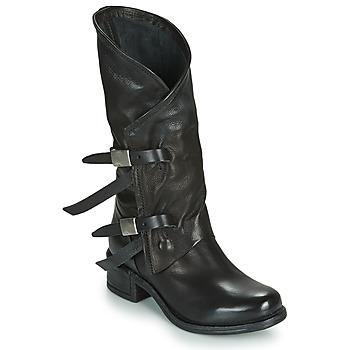 Schoenen Dames Hoge laarzen Airstep / A.S.98 ISPERIA BUCKLE Zwart