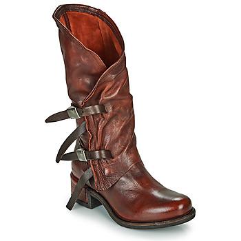 Schoenen Dames Hoge laarzen Airstep / A.S.98 ISPERIA BUCKLE Rood