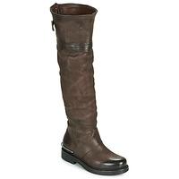 Schoenen Dames Hoge laarzen Airstep / A.S.98 BRET HIGH Brown