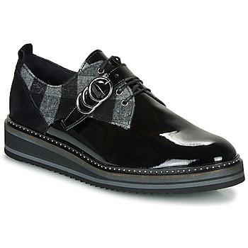 Schoenen Dames Derby Regard ROCSI V3 VERNIS Zwart