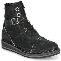 Schoenen Dames Laarzen Regard ROCTALY V2 CRTE SERPENTE SHABE Zwart