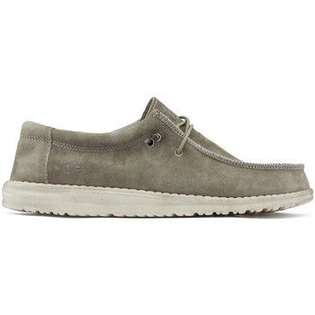 Schoenen Heren Derby & Klassiek Dude WALLY M Schoenen SUEDE_TAN