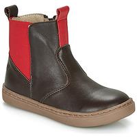 Schoenen Jongens Laarzen Citrouille et Compagnie JRYNE Brown / Rood