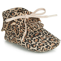 Schoenen Meisjes Sloffen Citrouille et Compagnie LILIFI  camel / Leopard
