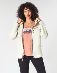Textiel Dames Fleece Patagonia W'S RETRO PILE HOODY Wit