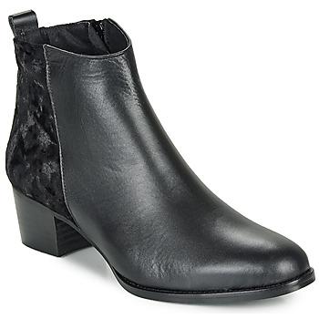 Schoenen Dames Enkellaarzen So Size GUILERMO Zwart