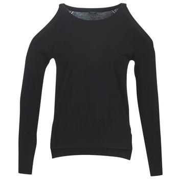 Textiel Dames Truien Guess CUTOUT Zwart