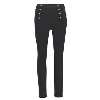 Textiel Dames Skinny jeans Guess ROMAN Zwart