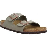 Schoenen Heren Leren slippers Birkenstock 120744 Beige