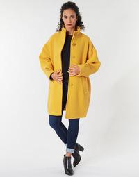 Textiel Dames Mantel jassen Benetton STORI Geel