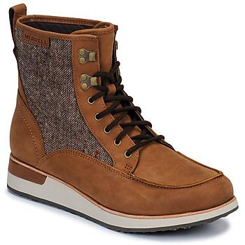 Schoenen Dames Laarzen Merrell ROAM MID Brown