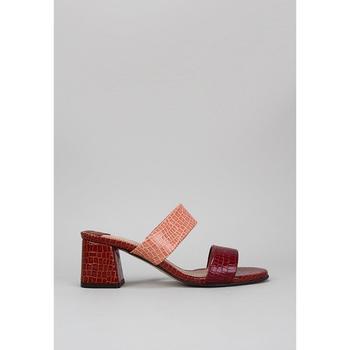 Schoenen Dames Leren slippers Roberto Torretta  Bordeaux
