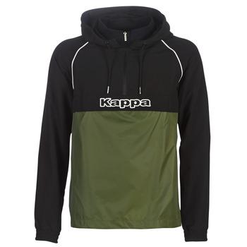 Textiel Heren Windjacken Kappa RISANO Zwart / Kaki