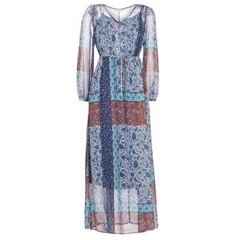 Textiel Dames Lange jurken Cream SAMA Blauw / Brown