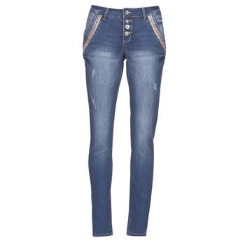 Textiel Dames Straight jeans Cream DICTE Blauw
