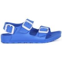 Schoenen Jongens Leren slippers Birkenstock Milano Kids Eva Bleu