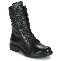 Schoenen Dames Laarzen Mjus CAFE METAL Zwart / Python
