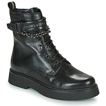 Schoenen Dames Laarzen Mjus TRIPLE STRAP Zwart