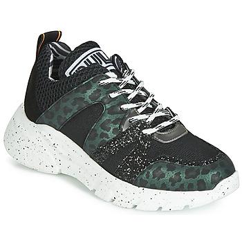 Schoenen Dames Lage sneakers Meline LETTE Zwart / Groen