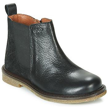 Schoenen Meisjes Laarzen Aster WAXOU Zwart