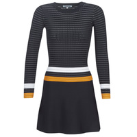 Textiel Dames Korte jurken Morgan ROXFA Marine / Wit / Geel