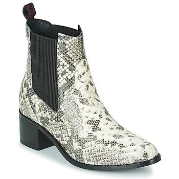 Schoenen Dames Enkellaarzen Gioseppo MIKKELI Zwart / Wit