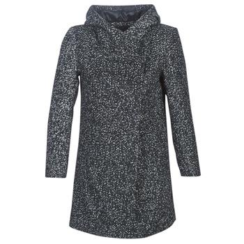 Textiel Dames Mantel jassen Casual Attitude LOUA Grijs / Zwart